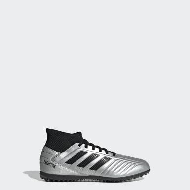 Kids Football Silver Predator Tango 19.3 Turf Boots