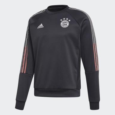 Männer Fußball FC Bayern München Travel Sweatshirt Grau
