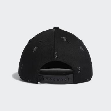 Boys Golf Black Flat-Bill Cap