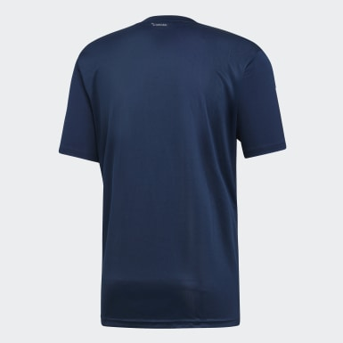 Playera 3-Stripes Club Azul Hombre Tennis