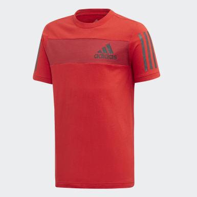 Boys Yoga Rød Sport ID T-shirt