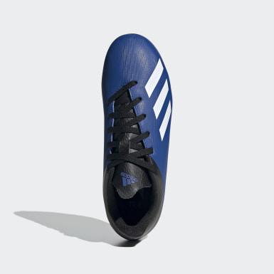 Chuteira X 19.4 Fxg Campo Azul Meninos Futebol