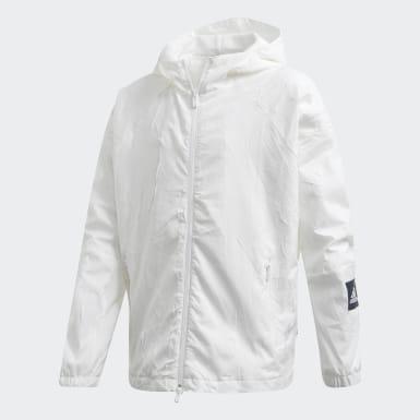 เด็กผู้หญิง ไลฟ์สไตล์ สีขาว เสื้อแจ็คเก็ต adidas W.N.D. Primeblue