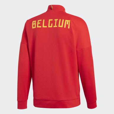 Männer Fußball Belgien adidas Z.N.E. Jacke Rot
