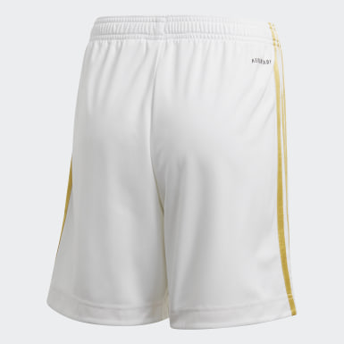 Kids Football White Juventus Home Shorts
