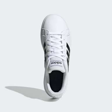 Children Sport Inspired White Grand Court Shoes