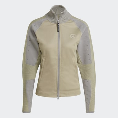 Chaqueta adidas by Stella McCartney Knit Mix Mid-Layer Beige Mujer adidas by Stella McCartney