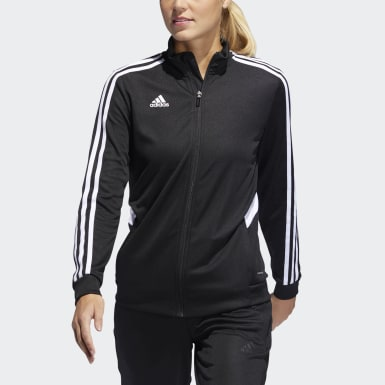 Women's Soccer Black Tiro Track Jacket
