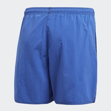Youth Swimming Blue Solid Swim Shorts