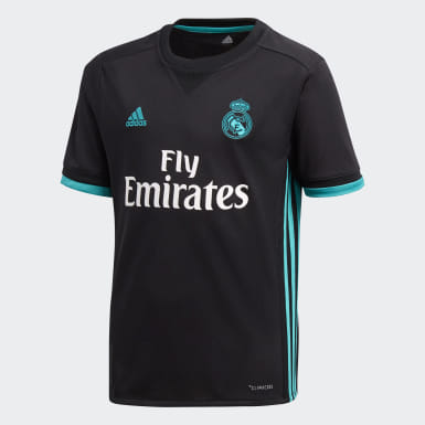 Jersey Real Madrid Away Replica Negro Niño Fútbol