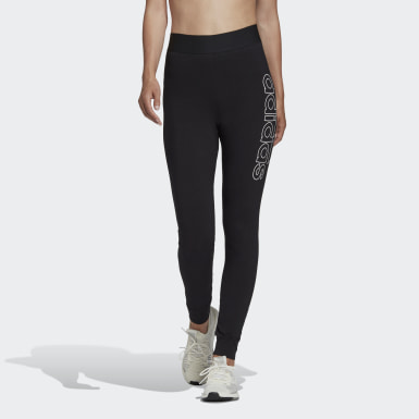 Women Athletics Black Big Badge of Sport Leggings