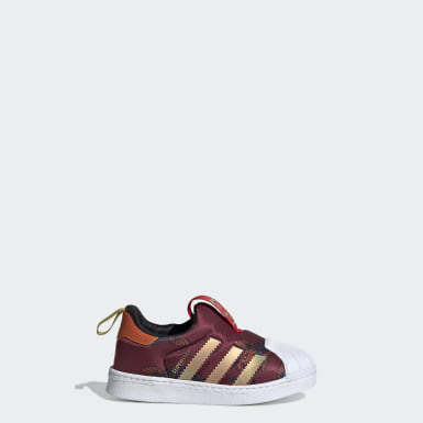 Infants Originals Burgundy Superstar 360 Shoes