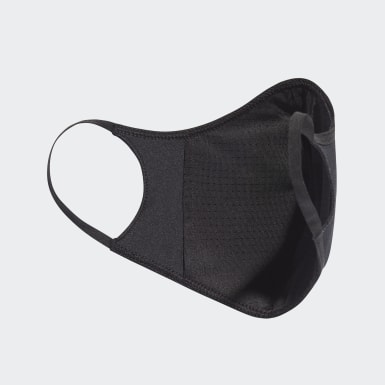 Cubiertas faciales adidas TALLA XS/S (PACK DE 3) (UNISEX) Negro Niño Training
