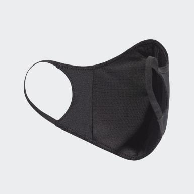 Cubiertas faciales adidas TALLA XS/S (PACK DE 3) Negro Niño Training