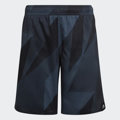 Boys Graphic Swim Shorts Zielony