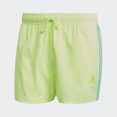 Men Swimming Yellow Classic 3-Stripes Swim Shorts