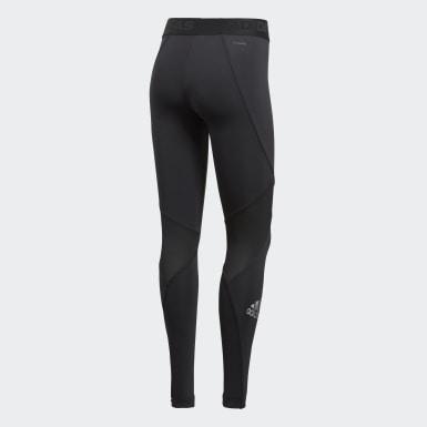Women Outdoor Black Alphaskin Sport Long Tights
