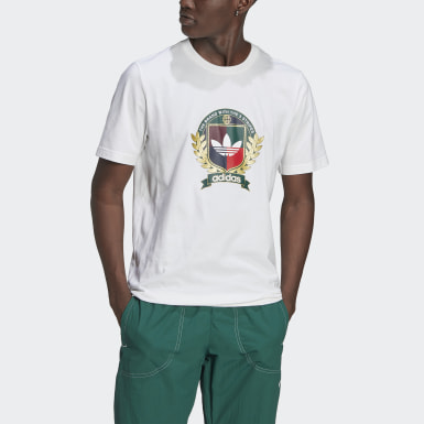 Men Originals White Collegiate Crest Tee