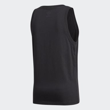 Camiseta sin mangas Adicolor 3D Trefoil Negro Hombre Originals