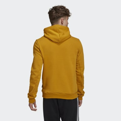 Männer Athletics Badge of Sport Fleece Hoodie Gold