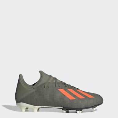 Zapatos de Fútbol X 19.3 Terreno Firme Verde Hombre Fútbol