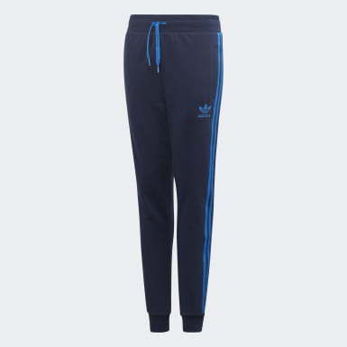 Kids Originals Blue 3-Stripes Pants