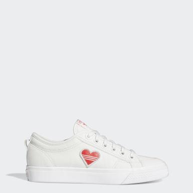 Frauen Originals Nizza Trefoil Schuh Weiß