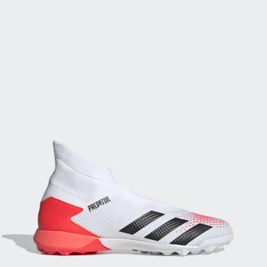 ผู้ชาย ฟุตบอล สีขาว รองเท้าฟุตบอล Predator 20.3 Turf