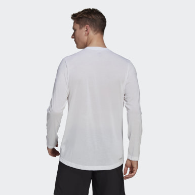 Men's Training White AEROREADY Designed 2 Move Feelready Sport Long Sleeve Tee
