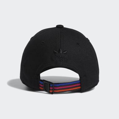 Women's Originals Black 3D Trefoil Strap-Back Hat