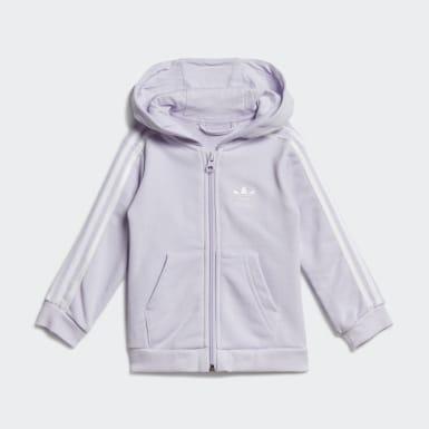 Conjunto chaqueta con capucha y pantalón Violeta Niña Originals