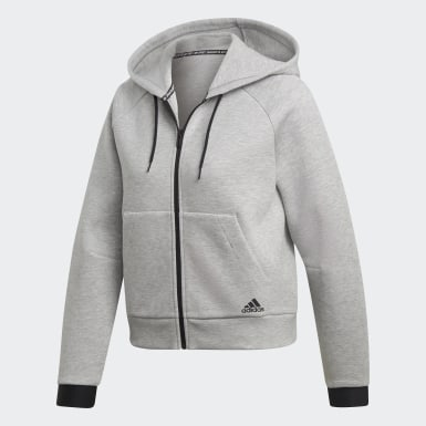Frauen Athletics Must Haves Kapuzenjacke Grau