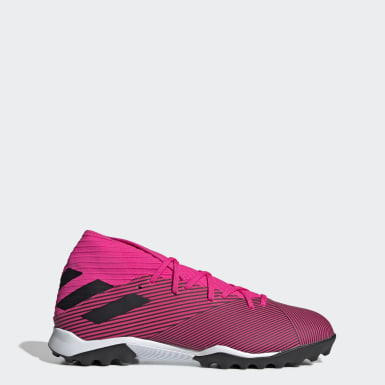 Men Football Pink Nemeziz 19.3 Turf Boots