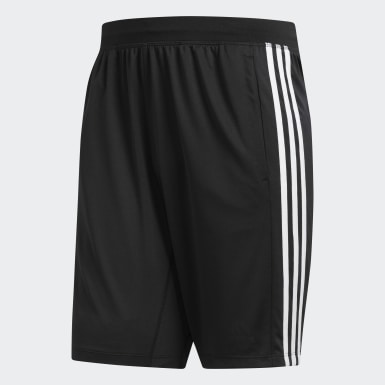 Men's Training Black 4KRFT Sport 3-Stripes Shorts
