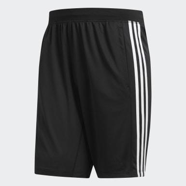Pantalón corto 4KRFT Sport 3 bandas Negro Hombre Training