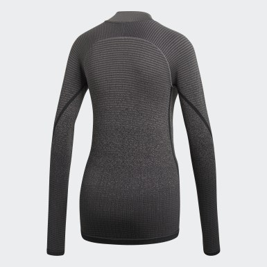 Women Training Grey Alphaskin 360 Seamless Tee