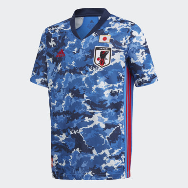 Boys Football Blue Japan Home Jersey