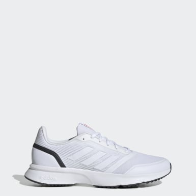 Men Running White Nova Flow Shoes