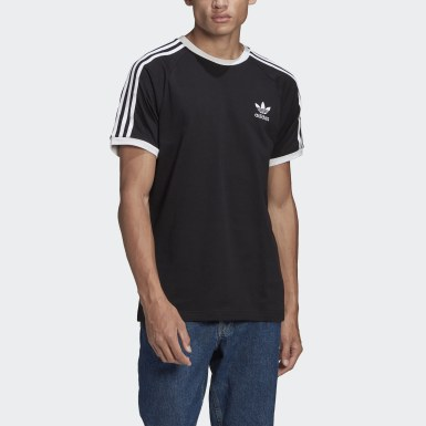 Men Originals Black Adicolor Classics 3-Stripes T-Shirt