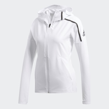 белый Куртка для бега adidas Z.N.E.