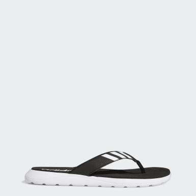 ผู้ชาย ว่ายน้ำ สีดำ รองเท้าแตะ Comfort