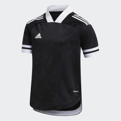 Kids Football Black Condivo 20 Jersey