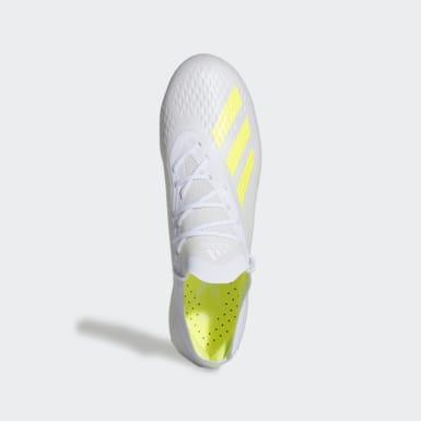 Calzado de Fútbol X 18.1 Terreno Suave Blanco Hombre Fútbol