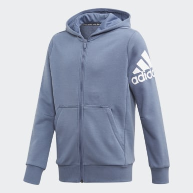 Jungen Training Must Haves Badge of Sport Jacke Blau