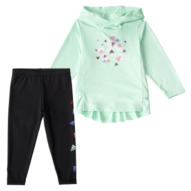 Children Training Turquoise HOOD TOP BOS TIGHTSET