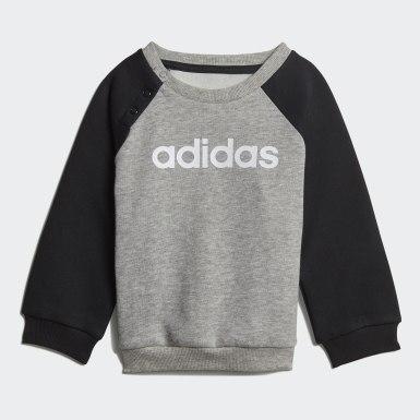 Kinderen Athletics grijs Linear Fleece Joggingpak