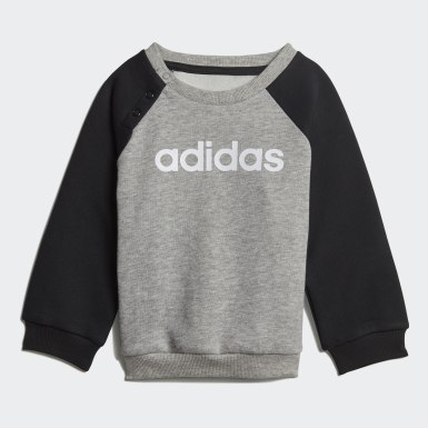 Børn Athletics Grå Linear Fleece joggingsæt