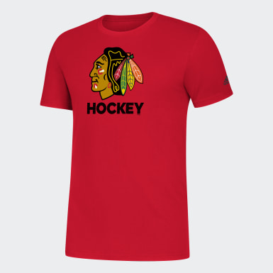 Men Athletics Multicolor Chicago Blackhawks Amplifier Tee