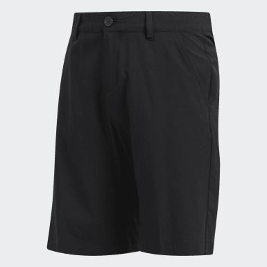 Boys Golf Black Solid Golf Shorts