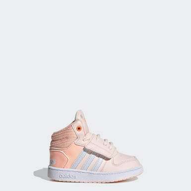 Infant Sport Inspired Pink Hoops 2.0 Mid Shoes